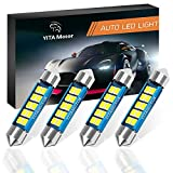 #6: 578 led Bulb, YITAMOTOR 4 Pcs 41mm 42mm Festoon Led Bulbs 10 SMD 3528 Chipset Canbus Error Free Led Bulbs 211 212-2 Super Bright Interior Dome Lights Map Light, Color White