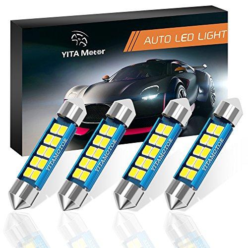 YITAMOTOR 4 Pcs 578 Canbus 42mm 1.72 Inch LED Bulb Error Free Festoon Bulbs 211 211-2 212-2 Lights with 6000K 2835 Chipsets for Car Interior Dome Map Light (White)