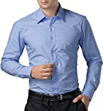 Paul Jones®Men's Shirt Formal Casual Shirt for Men Button Down (M) CL1044-5 Light Blue