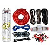 SoundBox Connected 4 Gauge Amp Kit 2300W Complete Amp Wire + 2 Farad Sound Quest Digital Capacitor