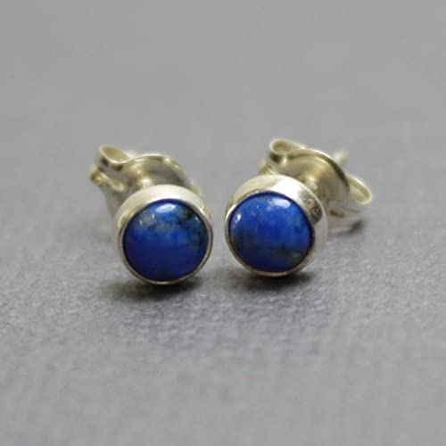 in product normal blue stud gold lapis gallery lyst jewelry classique earrings yellow anzie