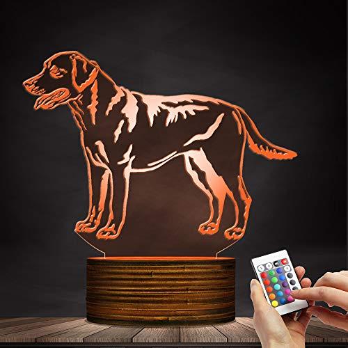 3D Labrador Retriever Dog Shape Design LED Night Light Puppy Table Lamp Decorative Lighting Sleepy Light for Dog Lover Gift