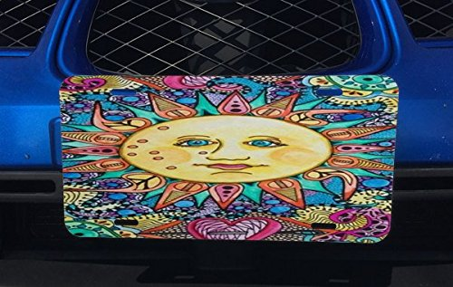 Solstice Sun Bright and Colorful Aluminum License Plate for Car Truck - Solstice Sun