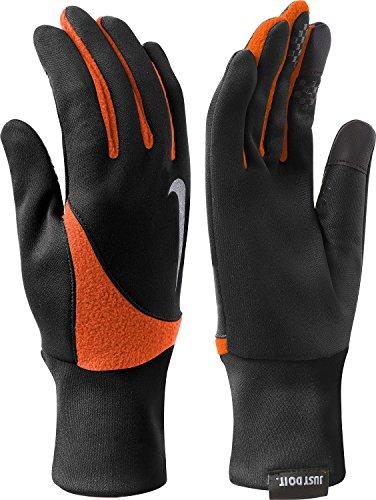 - Nike Men's Element Thermal 2.0 Run Gloves-Black/Team Orange-XL