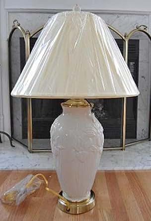 Lenox Masterpiece Iris Lamp With Ivory Fabric Shade