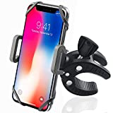 Bike Phone Mount Bicycle Holder, KSACLE 360 Degree Rotatable Cell Phone Mount, ATV Bicycle Handlebar & Motorcycle Holder Cradle for iPhone 8/7/7Plus/6s/6Plus/5S or any Smartphone GPS