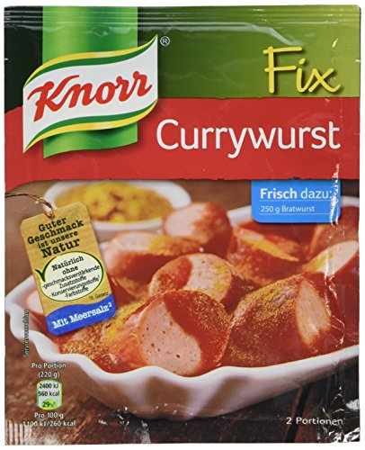 Knorr Fix for Currywurst Sauce Mix -Pack of 10 Pcs