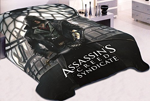 Microfiber Stadium Jacket (Assassin's Creed Syndicate OFFICIAL Snug & Warm Decorative Fleece Throw Wall Hanging Tapestry Blanket with Gunslinger Jacob Frye)