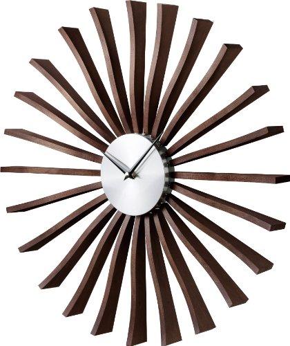 壁掛け時計 ジョージネルソン フラッタークロック ウォールナット 51880000 B005YU8I28