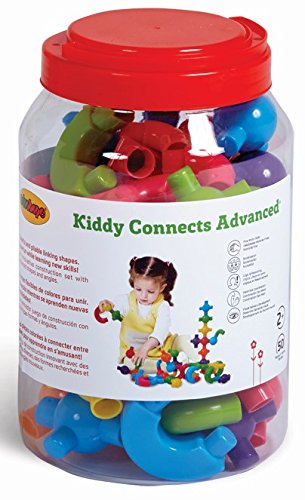 Edushape 829050 Kiddy Connects Advanced (50 Piece) (Edushape Shape)