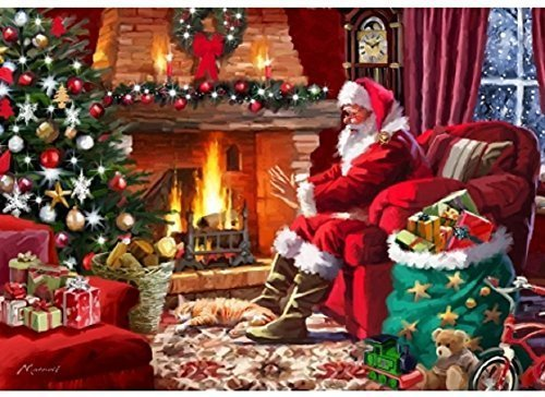 (Wentworth Santa by the Fire 500 Piece Wooden Jigsaw Puzzle)