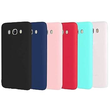 CoqueCase 6X Funda para Samsung J7 2016 Silicona Suave Flexible Antigolpes Ultrafina Goma Ultra Delgado Color Protector Bumper Caja Tapa Carcasa ...