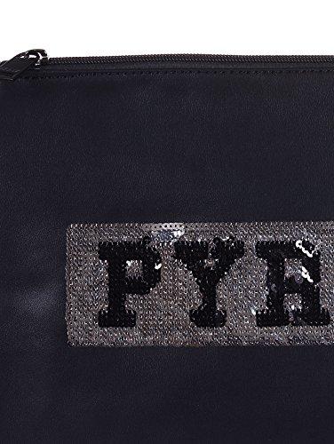 PYREX pochette ecopelle, con palliettes, nero, PY7004N, 30X21X1 cm