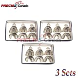 PRECISE CANADA: SET OF 3 DENTAL IMPRESSION TRAYS BABY SET OF 6 PCS PEFORATED DENTAL INSTRUMENTS