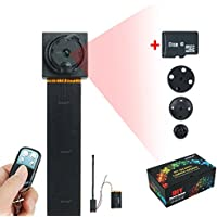 Wiseup™ 8GB 1920x1080P HD Hidden Camera Button Mini DV Camcorder Motion Detection Security DVR Video Recorder