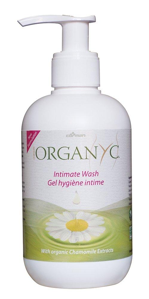Organyc Intimate Wash for Sensitive Skin, 8.5 Fluid Ounce