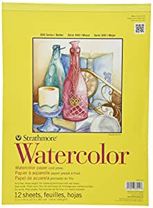 """Strathmore Watercolor Paper Pad 11""""X15""""-12 Sheets"""