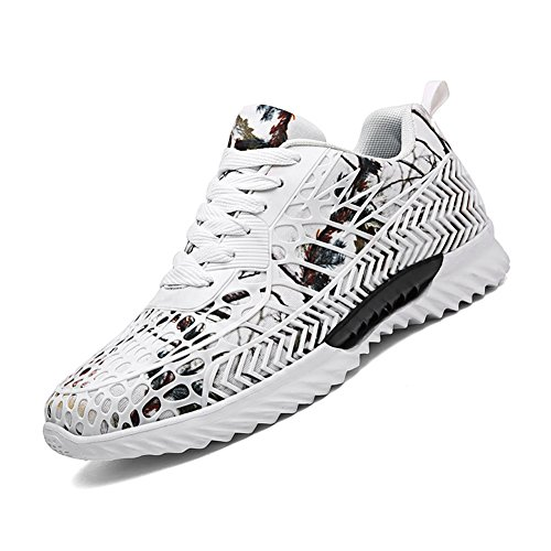 Casual Walking Footwear Breathable Camo Style Matari Outdoor White Mesh Shoes Men's wXZ8q7