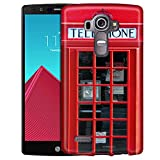 LG G4 Case, Slim Snap On Cover Red British Phone Booth Case
