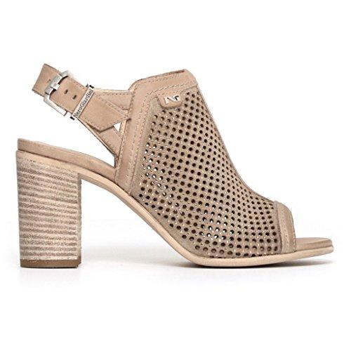 Mujer Nero Zapatos Correa con Amarillo Giardini 58BZqxwaB