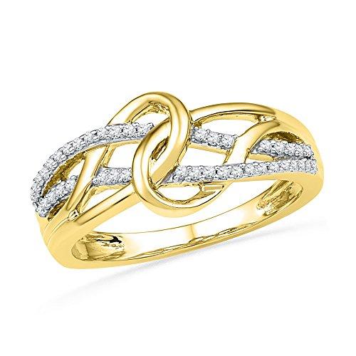 Yellow Gold Diamond Loop - 7
