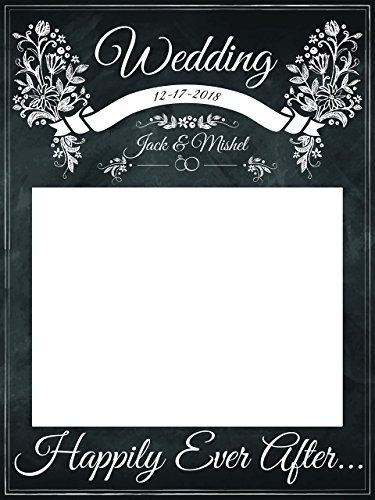 Custom Wedding Happily Ever After Photo Booth Prop - sizes 36x24, 48x36; Pesonalized Wedding Home Decorations, Handmade Party Supply Photo Booth (Handmade Halloween Decorations)