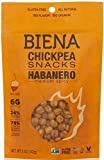 Biena All Natural Roasted Chickpeas Snacks Case of 12 - 2 oz bags (Habanero)