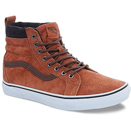 Vans Unisex Sk8-Hi MTE Glazed Ginger/Plaid Skate Shoe 8 Men US / 9.5 Women US (Vans Plaid Shoes)