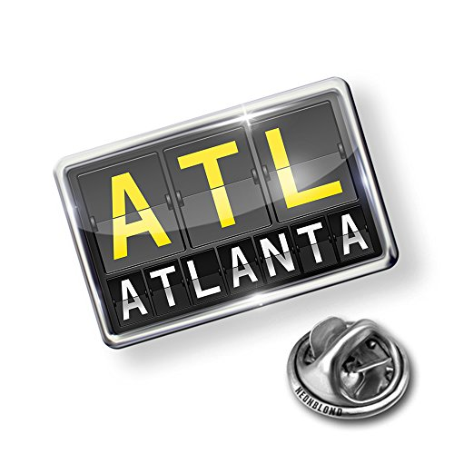 Atlanta Pin (Pin ATL Airport Code for Atlanta - Lapel Badge - NEONBLOND)