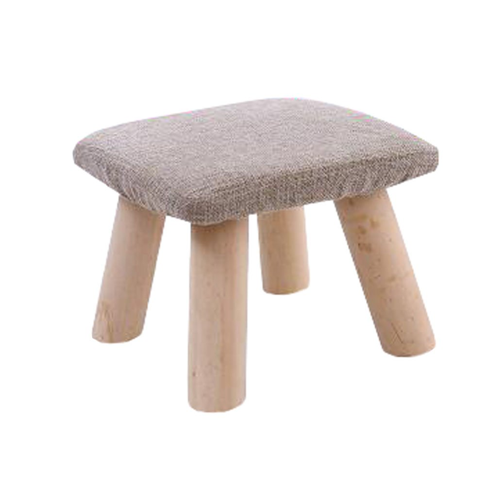 Durable Stool Footstool Bench Seat Foot Rest Ottoman Detachable Cover, 4 Legs, B Kylin Express
