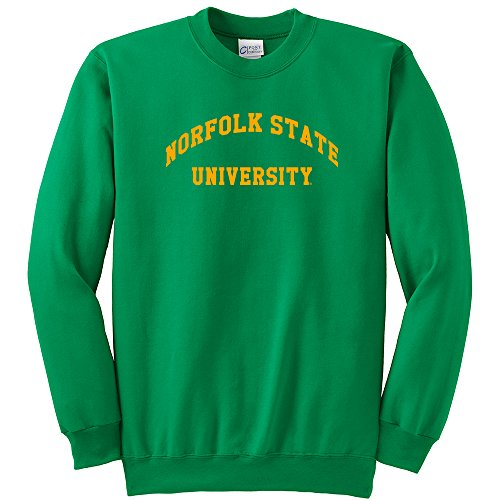 Norfolk State Spartans Green - NCAA Norfolk State Spartans Youth Crewneck Sweatshirt, Kelly Green, Large