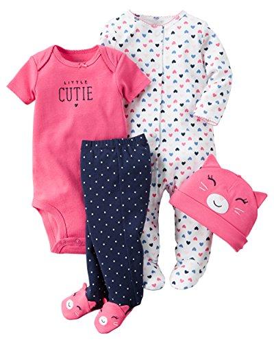 Carter's Baby Girls' 4 Piece Layette Set (Baby) - Little Cutie-6M