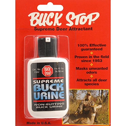 Lure Buck Stop (Buck Stop Supreme Buck Urine Scent, 1 1/4-Ounce)