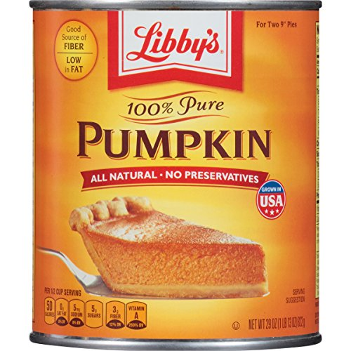 Libbys 100% Pure Pumpkin, 29-Ounce Cans (Pack of 12)