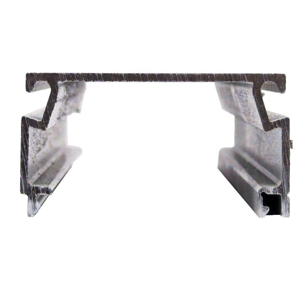 Screen Tight 1 in. x 2 in. x 8 ft. Bronze Fast Track Self-Mating Porch Screening Channel by Screen Tight