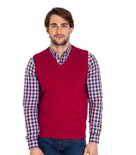 WoolOvers Pullunder aus Lammwolle für Herren Red, XL