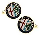 Promotioneer Men's Alfa Romeo Logo Symbol Fashion Shirt Cufflinks with Gift Box 02