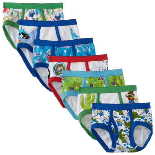 Disney Pixar Toy Story 7 Pack Toddler Boys Briefs, Multi, (Toy Story Clothing For Toddlers)