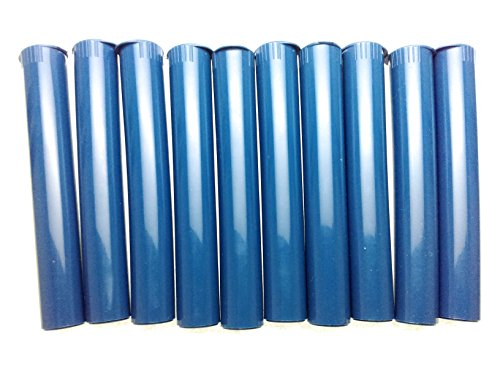 - 10 PACK KING SIZE DARK BLUE SNAP TOP DOOB J TUBE, MEDICINE STORAGE CONTAINERS