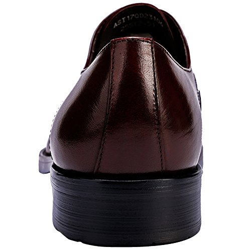 Leather Perforated Up Comfort Lace Classic by Dress Brogue Santimon Casual Brown Shoes Shoes Mens gYxq0zH