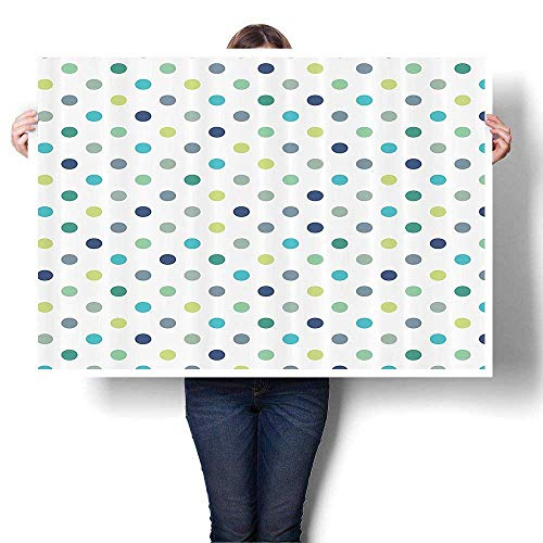(Wall Art Painting Colorful 3D Dots Timeless Classy Vintage Pattern Bathroom Paintings Modern Home Decor Wall Art Painting,36