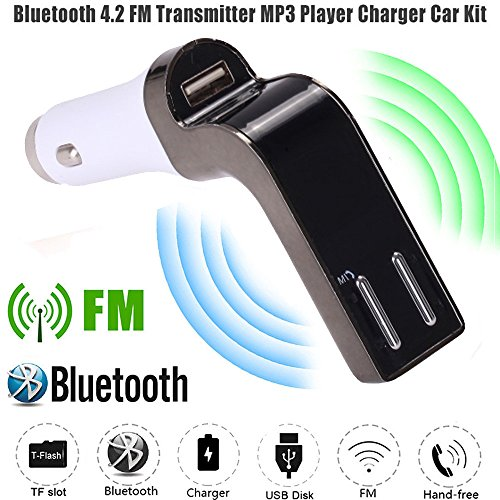 Kanzd G7 Car FM Transmitter Bluetooth Hands-free LCD MP3 Player Radio Adapter Kit Charger (10m Bluetooth Radio)