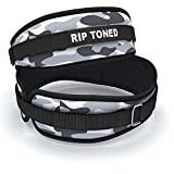 Lifting Belt By Rip Toned - 4.5 Inch Weightlifting Back Support & Bonus Ebook - For Powerlifting, Crossfit, Bodybuilding, Strength & Weight Training, MMA - Lifetime Warranty (Gray Camo)