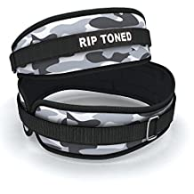 Lifting Belt By Rip Toned - 4.5 Inch Weightlifting Back Support - Powerlifting, Xfit, Bodybuilding, Strength & Weight Training, MMA