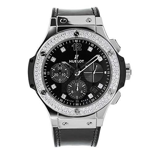 Hublot Big Bang 41MM Black Diamond Stainless Steel Ladies Watch 341.SX.1270.VR.1104