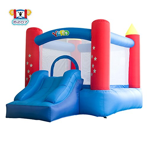 YARD Party Event Games Kids Bounce House Home Activities Children Inflatable Bouncy Castle with Slide Include Blower (9.5'x6.5'x6.5') by YARD