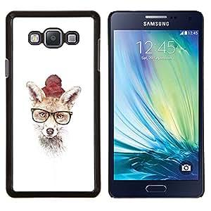 TECHCASE---Cubierta de la caja de protección para la piel dura ** Samsung Galaxy A7 ( A7000 ) ** --Hipster Fox lindo