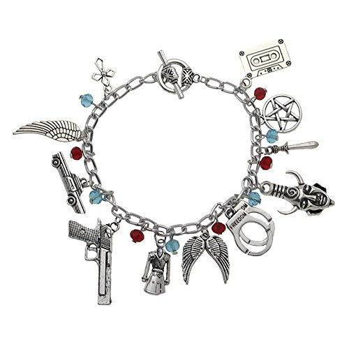Law Themed Costumes (SUPERNATURAL TV Series Silvertone Assorted Themed Metal Charm BRACELET)