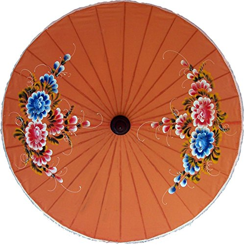 Painted Umbrellas Hand (Oriental-Decor Knowledge Hand Painted Umbrella 35 Inch)