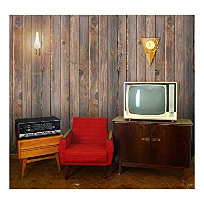 Unbelievable Expert Craftsmanship, Made For You, Vertical Brown Vintage and Retro Wood Textured Paneling Wall Mural Removable Wallpaper